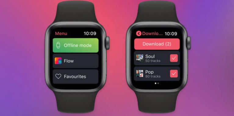 Deezer and Spotify play music offline on Apple Watch