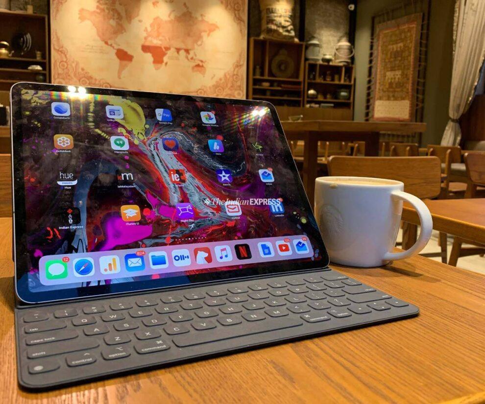 The iPad with the halo display